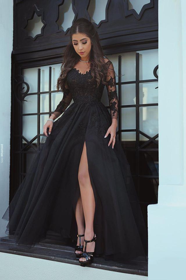 Abendkleid schwarz model